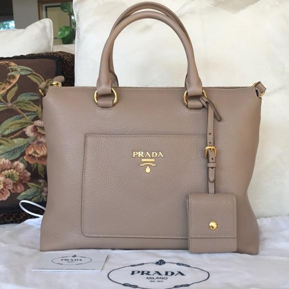 45482e788c9d Prada Bags | Vitello Daino Tote Bag | Poshmark